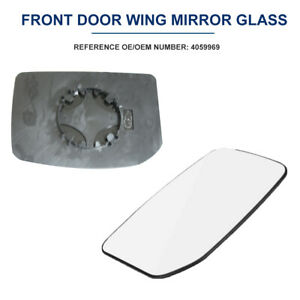 For Ford Transit 2000-2013 OE 4059969 Left Side Wind Door Mirror Lens Durable