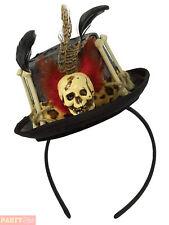 Ladies Witch Doctor Top Hat on Headband Halloween Fancy Dress Costume Prop -