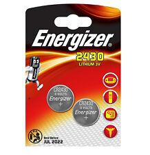 GENUINE ENERGIZER 2X CR2430 3V LITHIUM COIN CELL BATTERY 2430 DL2430 K2430L ECR2