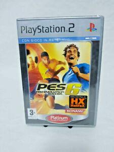 Gioco per Sony PlayStation 2 Ps2 PRO EVOLUTION SOCCER PES 6 Platinum Nuovo