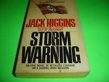 STORM WARNING By Jack Higgins, 1980 Paperback