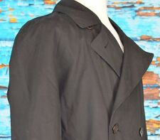 Sanyo Carol Cohen Men's Cotton Trench Overcoat Size S 36 Career Removable Liner