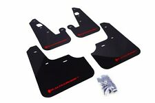Rally Armor Black Mud Flap w/ Red Logo For 2007+ Mitsubishi Lancer