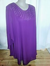 Noni B Liz Jordan dark purple chiffon evening party retail $249.95 size 14 NEW