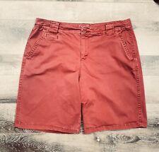 St Johns Bay Chino Shorts Burnt orange Women's Size 14 GUC