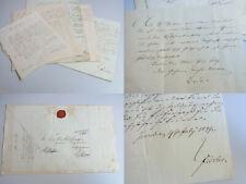 5 Dokumente 1847, Laufbahn Post-Schreiber Engmann in GRAUDENZ (Pommern)