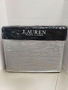 Ralph Lauren Home Spencer Matelasse ONE KING Quilt/Coverlet Stone Grey $385