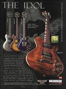 Allman Brothers Derek Trucks 2002 Washburn Idol Series WI68CG guitar ad print