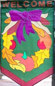 Welcome Autumn Wreath Standard Flag by NCE #70367