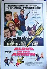 BLOOD ON THE ARROW 1sh '64 Dale Robertson linen-backed movie poster