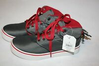 Faded Glory New Children's Boys High Top Tennis Shoes with Laces in Color: Gray