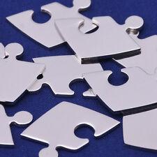 """10pcs 3/4""""*1/2"""" tibetara Stainless Steel Puzzle Piece Stamping Blank 10125350"""