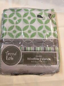 """Trend Lab Lauren Window Valance 56"""" X  12"""" Green White"""
