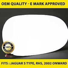 Jaguar S Type Door Wing Mirror Replacement Glass - Right Side, 2002 onward