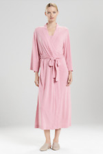 NO BELT NEW Natori Shangri-La Robe Heather Pink Long Maxi Length Sz M Medium