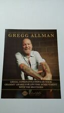 Gregg Allman Grammy Award With The Brothers! Rare Original Print Promo Poster Ad