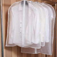 Clear Suit Dress Bag Travel Home Clothes Coat Cover Zip Dust Protector