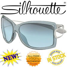 NEW SILHOUETTE 3189 6212 DREAMWINGS CRYSTAL GREY BLUE FLEXIBLE LENSES SUNGLASSES