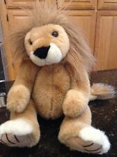 RUSS BERRIE BROWN PLUSH SAFARI Large LION Plush Stuffed Animal