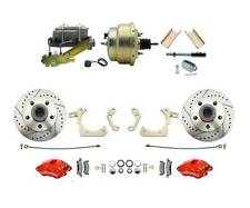 1955-58 Chevy Impala Disc Brake Kit RED Wilwood Calipers & Standard Booster Kit
