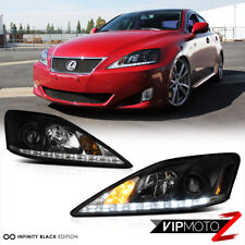 For 2006-2013 Lexus IS250 IS350 LED Strip DRL LED Headlights Assembly Left Right