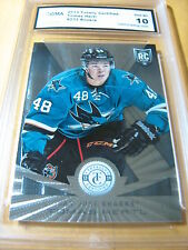 TOMAS HERTL SHARKS 2013 TOTALLY CERTIFIED ROOKIE RC # 233 GRADED 10