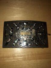 Vintage Plata de Jalisco Sterling 925 Beautiful abalone inlay Belt Buckle J.E.L.