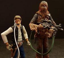 Star Wars Legacy Millennium Falcon Han Solo Chewbacca Weapons Pilots figure lot