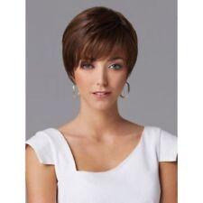 100% Real Hair! Refreshing Fluffy Natural Straight Mixed Color Stylish Short Wig