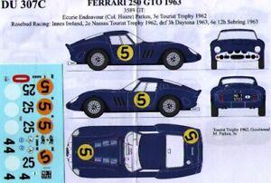 decal 1/43 FERRARI 250 GTO '62 Ch.3589GT RENAISSANCE DU307C