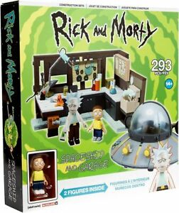 Rick and Morty Spaceship and Garage Large Construction Set McFarlane Toys
