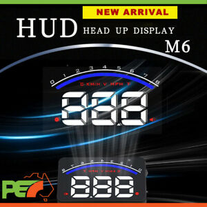 """M6 HUD 3.5"""" OBD II 2 Speed Warning Gauge Fuel Consumption For Mitsubishi Canter"""