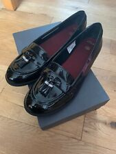 Older Girls Clark  Black leather school shoes UK 8.5  F EU 42.5 M