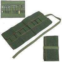 Bonsai Canvas Roll Spanner Wrench Tool Set Kit Storage Bag Organizer Case Pouch