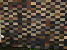 """Vintage Antique Wool Quilt Top - """"Example of Wool Suiting Fabrics"""" 62"""" x 84"""""""