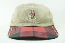 Vintage Tommy Hilfiger Crest Plaid Bill Snapback Dad Hat (Made In USA)