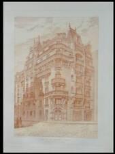 PARIS, 90 BOULEVARD RASPAIL - 1906 -PLANCHE ARCHITECTURE- CHIFFLOT, ART NOUVEAU
