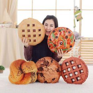 Simulation Pizza Biscuit Plush Pillow Soft Cartoon Food Stuffed Doll Cushion New