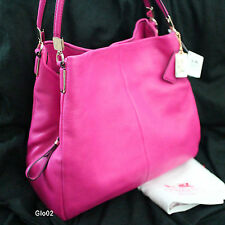 NWT COACH MADISON LEATHER RUBY PINK PHOEBE TOTE SHOULDER HAND BAG PURSE NEW
