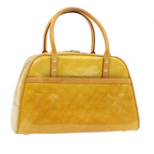 LOUIS VUITTON Monogram Vernis Tompkins Square Hand Bag Beige M91149 Auth 16801
