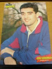 90-2000's Autographed Magazine Picture A4: Wimbledon - Goodman, Jon. We try and