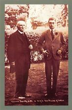 Nostalgia Postcard Novelist Thomas Hardy & The Prince of Wales 1927 Repro NS27