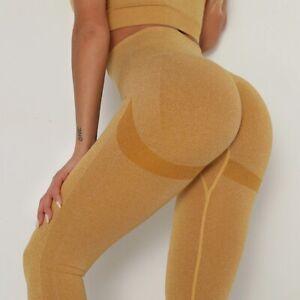 High Waist Seamless Leggings Push Up Sport Women Fitness Running Gym Yoga Pants