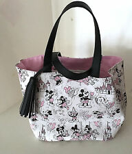 Disney Parks Mickey Minnie Mouse at the Park Tote Purse and Matching Pouch Set