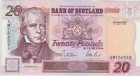 P121a BANK OF SCOTLAND 1995 TWENTY POUND BANKNOTE IN MINT CONDITION