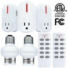 Remote Control Outlets Light Holders, Wireless Smart Home Household Combo Set