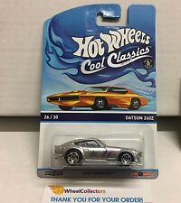 Datsun 240Z Silver * On Orange Otto Cardback * Cool Classics Hot Wheels * NB17