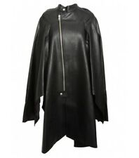 [Junya Watanabe] Leather Zipped Cape Coat Black Sz XS AW13 Runway / New with Tag