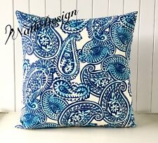 NEW Beautiful Trending Blue & TAN Tommy Bahama Palm 45cm Cushion Cover