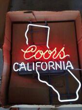 "Coors For California Neon Sign 24""x20"" Bar Open Lamp Light Artwork Gift"